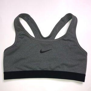 Nike Gray and Black sports Bra